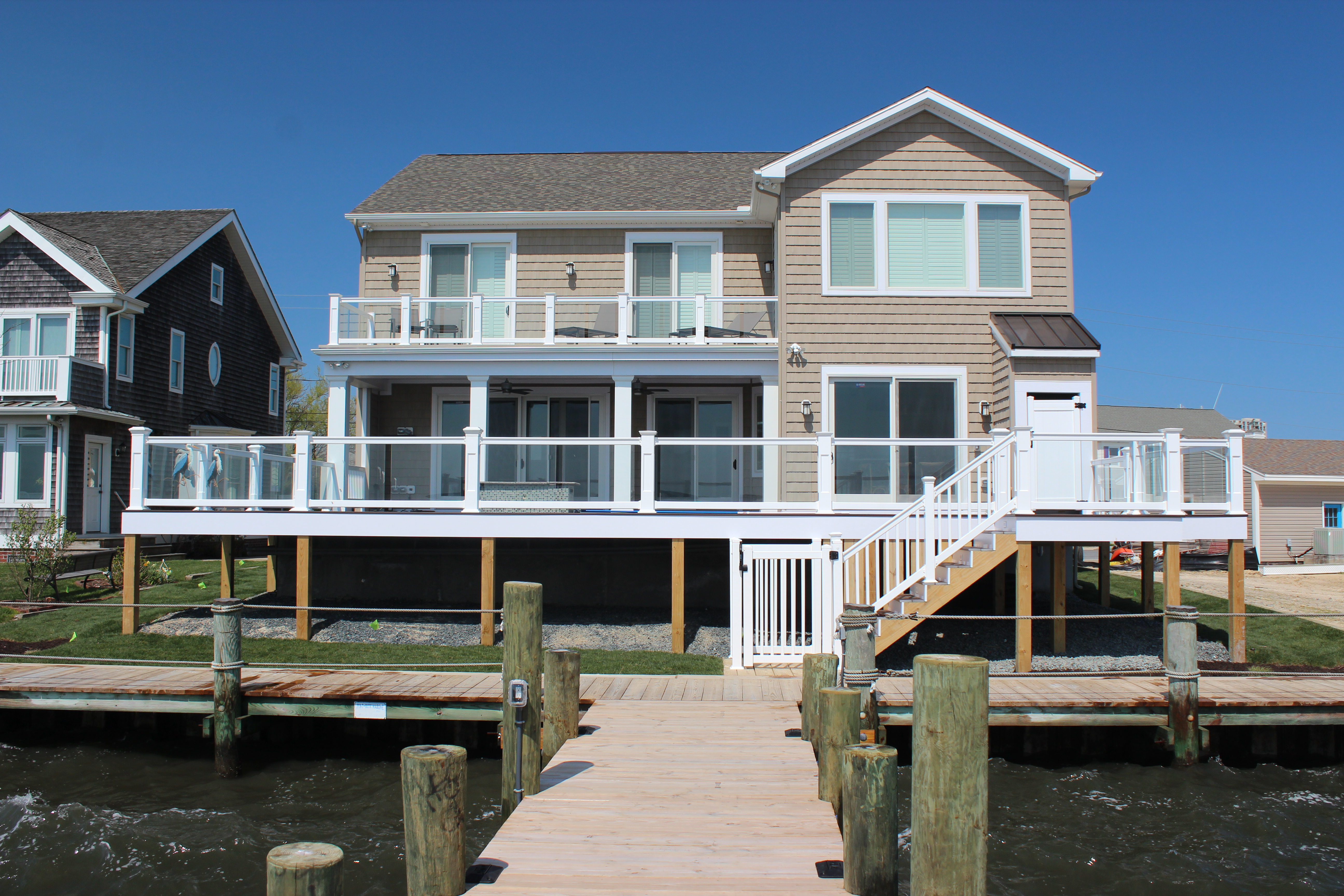 We Built This Great Looking Beach House In Little Salisbury Ocean City 2017 15 From A Tear Down Rancher